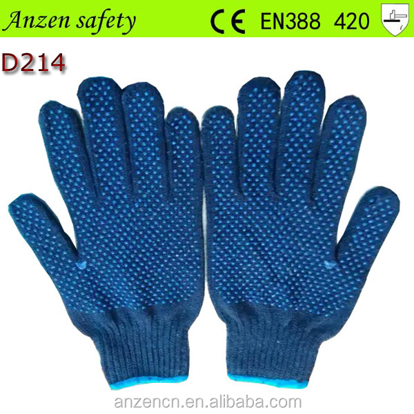 high quality pvc dotted cute winter cotton glove