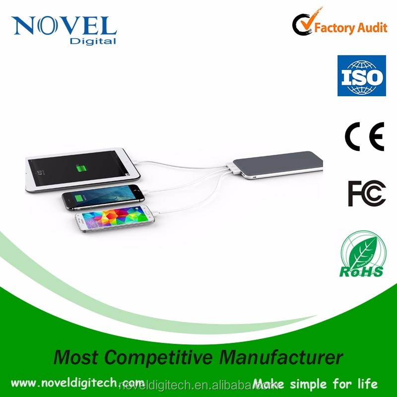 Best power bank manufacturer, real capacity 20000mah power bank with three usb output