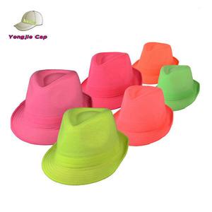 b8a65ab18b1dd Neon Fedora Hat