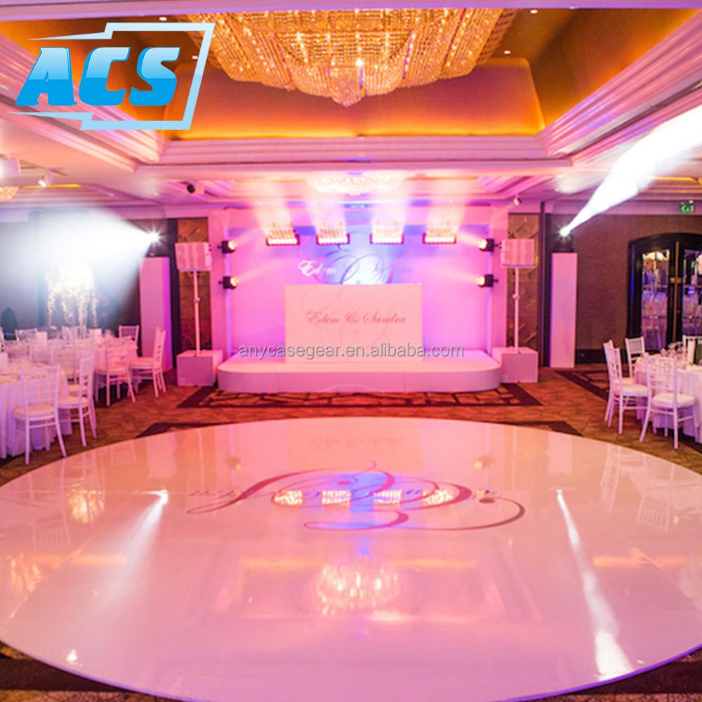 cheap wholesale black and white dance floor magnetic dance floor/christmas lights