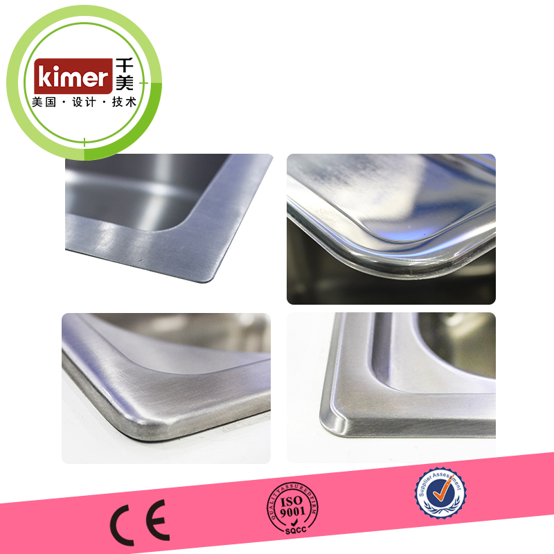 commercial wash bowl installation optional 22Gauge polished stainless steel material kitchen sink
