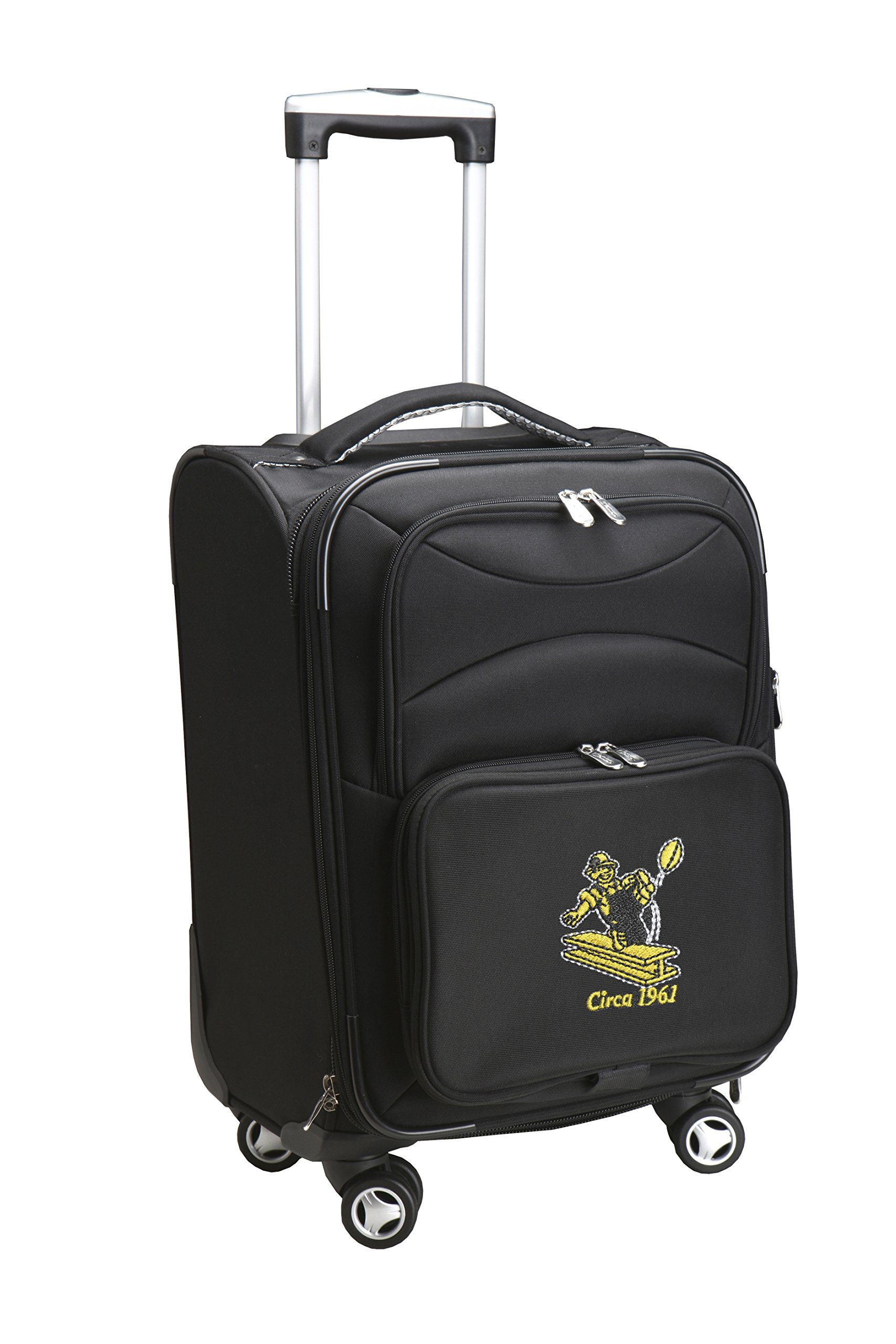 NFL Pittsburgh Steelers Upright Domestic Carry-On Spinner, 20-Inch, Black
