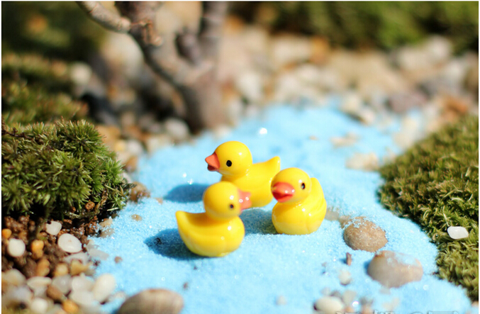 1pcs Mini Yellow duck Garden PVC Action Figures Kids Toys For Boys Girls gifts home decorations