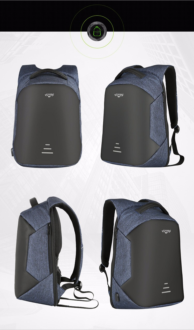 COQBV 2018 Wholesale custom fashion smart waterproof back pack bagpack anti theft laptop backpack bags with usb charging port