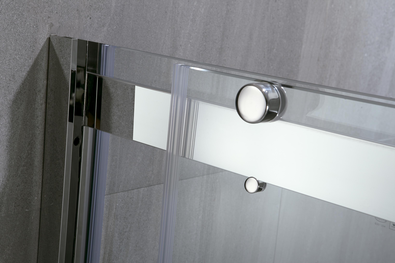 Two Sliding Door 6mm Aqua Glass Shower Enclosures (KD5230)