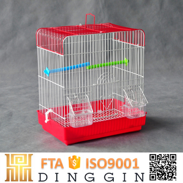 Large metal bird cage with panels