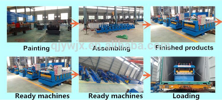 Corrugated double deck glazed roof tile roll forming machine