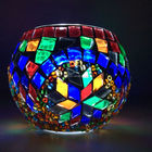 Unique turkish handmade glass mosaic candle holder for home decoration and wedding made in China