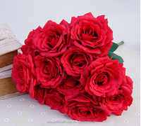 Wholesale 12 heads silk rose bouquet Artificial Flower