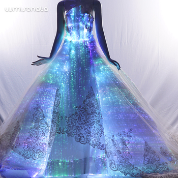 Prom Dress Fiber Optic Dresses