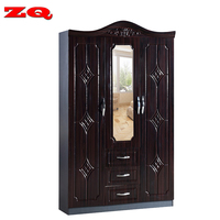 MDF wood modern cheap wood wardrobe