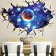 3D Outer Space Wall Stickers / sky wall sticker decal / removable wall stickers