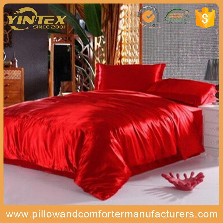 Red silk adult use wedding bed sheet
