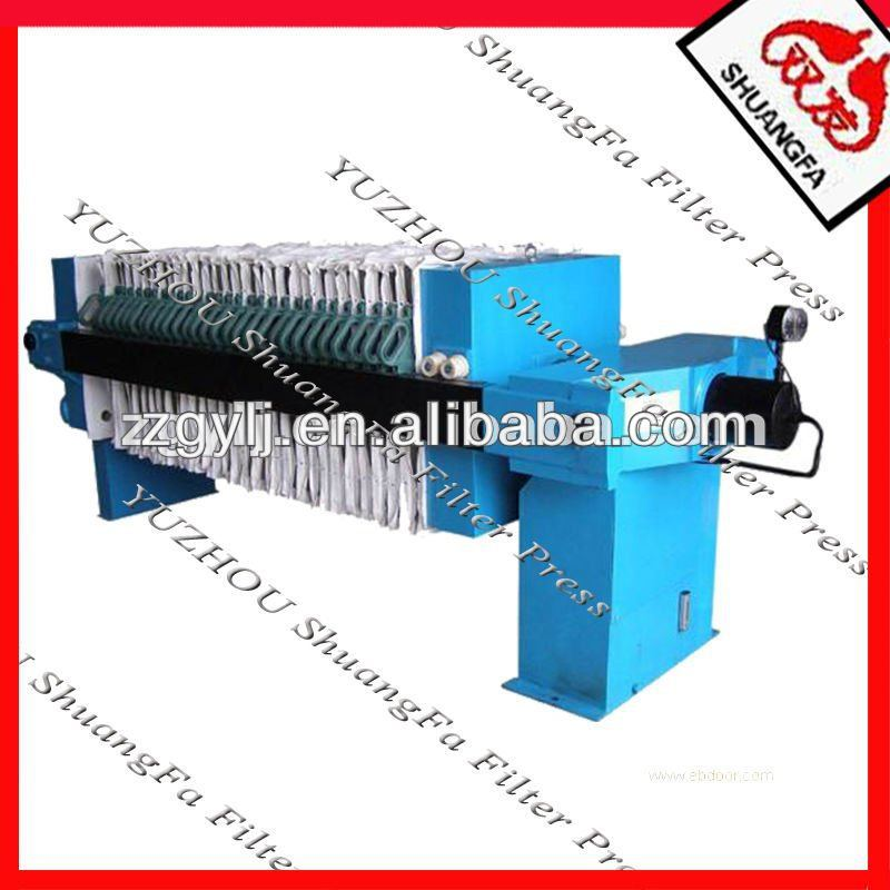 Program Controlled Auto Waste Water Filter Press with Cloth Wash System