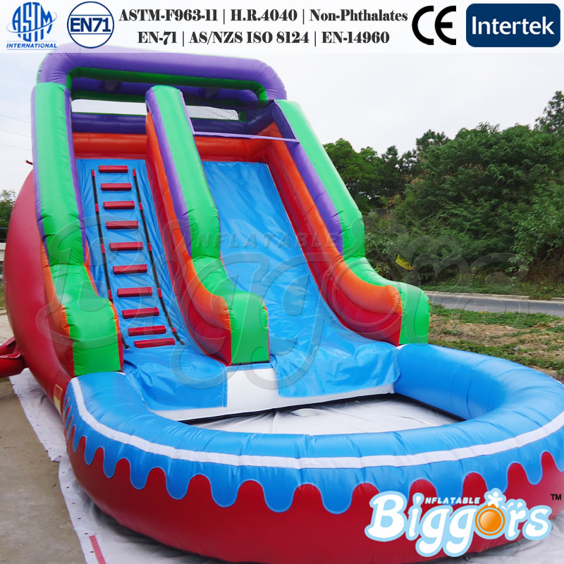 Kid's Inflatable Bouncy Castle with Water Slide for Sale