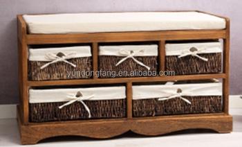 Panca Contenitore Legno : Antico in legno massello lunga panca con contenitore cestino set