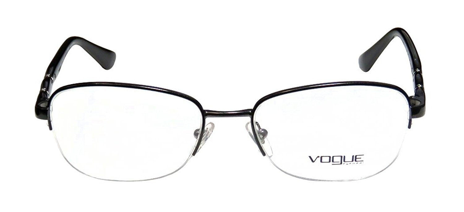 983231b663e Get Quotations · Vogue 3936-B Womens Ladies Designer Half-rim Rhinestones  Eyeglasses Glasses
