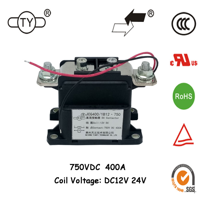 200A 400A Rust Protection and Anti-corrosive Porcelain-Sealed 12V DC 750V Switching High Voltage Contactor