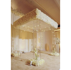 hot wedding decoration acrylic crystal mandap with light for wedding stage decoration
