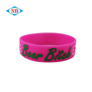 High quality embossed with colors wristband customize silicone bracelet