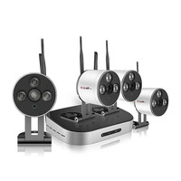 Factory Price 4CH HD Mini Wireless Kit Hidden Camera WiFi Outdoor 720P /960P /1080P IP WiFi Camera Kit