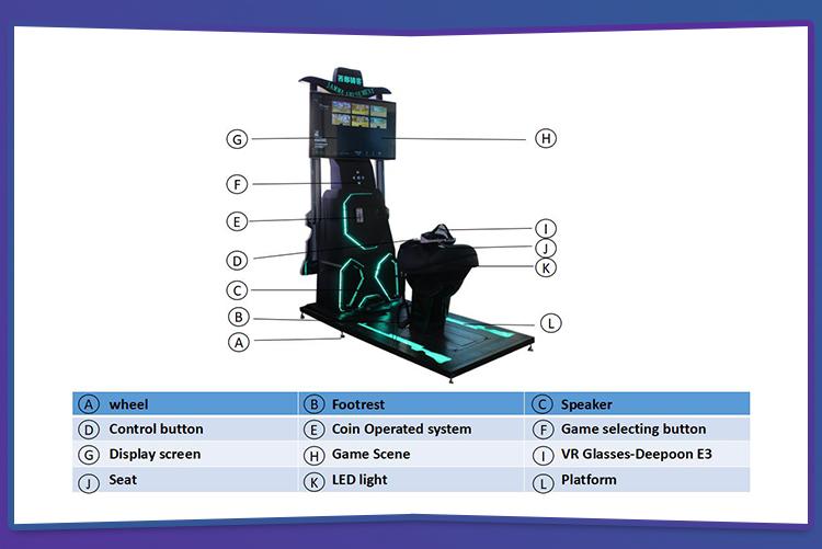 Amusement Park rides 9d vr horse riding game motion simulator electronic vr game machine