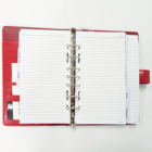 Leather Organizer Customized Logo Planner Document Pocket With Pen Holder