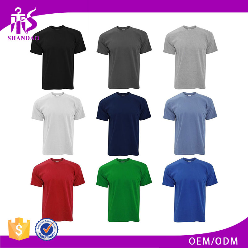OEM 100% Cotton Short Sleeve Blank Private Label T-Shirts