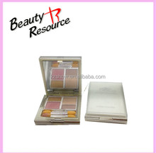 Beauty Resource Square Case Top Grade Waterproof Make Up Skincare 4 Colors Compact Powder/Press Powder With Brush