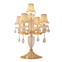 warm crystal bedside table lamp use in villa living room antique crystal chandelier bedroom table lamp