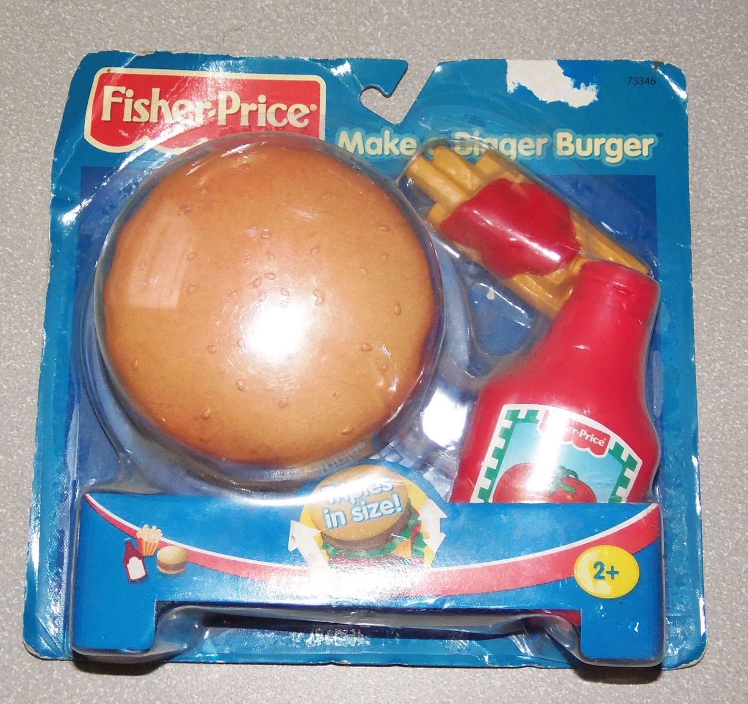 Fisher Price Make a Bigger Burger Mini Meal Play Food Set