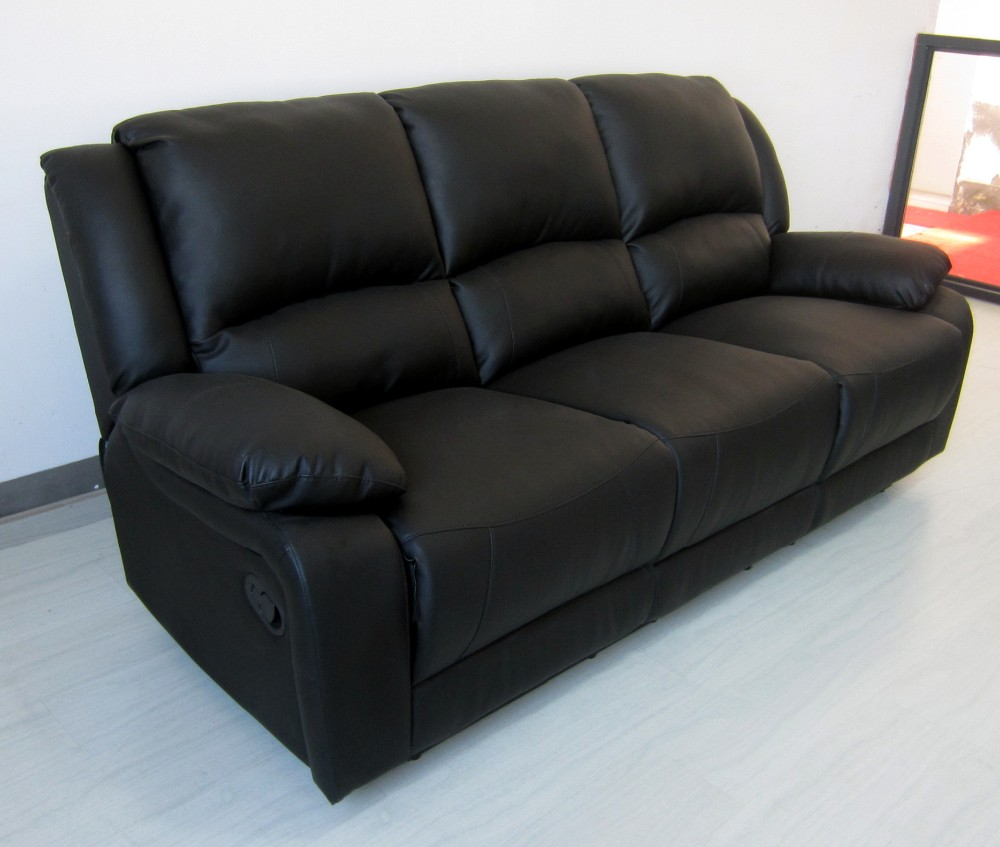 Solid Wooden Frame Sofa Set Designs 3 Seater 2 And Single Recliner Chair
