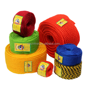 Twisted thick braiding 16mm poly dacron good quality polyethylene pe twine fishing net fast double braided polyester rope