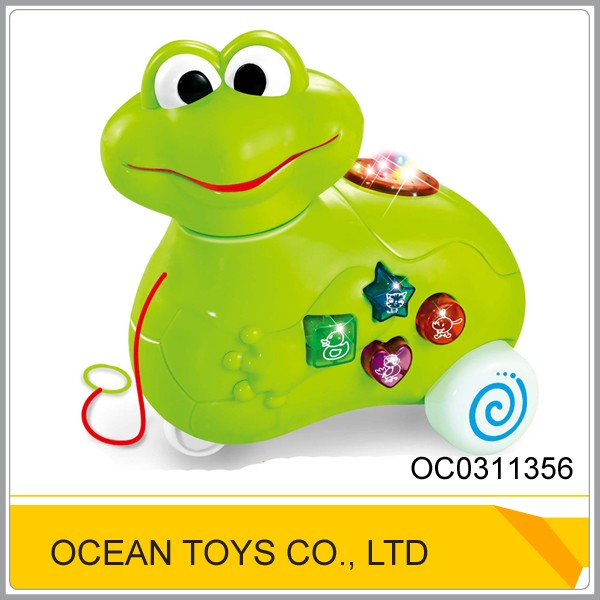 Educational lovely green plastic bo frog toy OC0311356