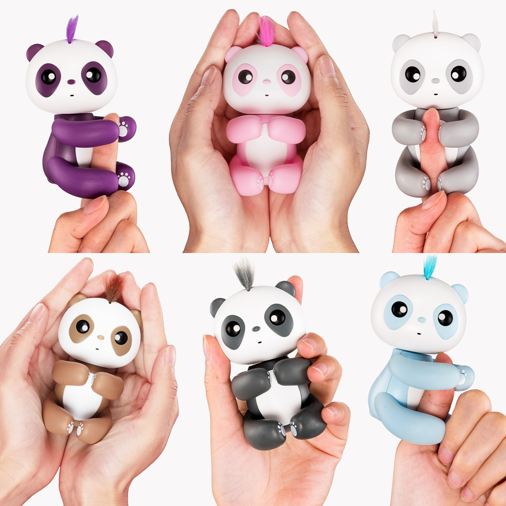 2017 Hot Selling Interactive Fun Baby Panda Fingertips Electronic Smart Touch Induction Pet Toys