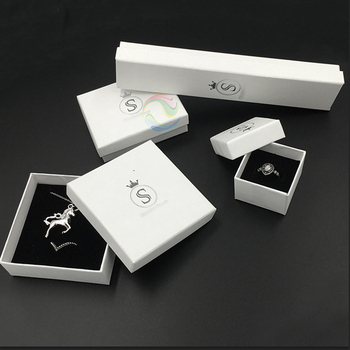 Wholesale Unique White Set Custom Logo Paper Jewelry Gift Boxes
