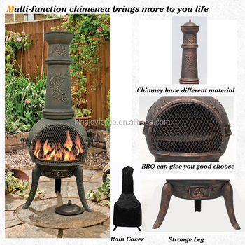 Amazing HOT SALE Cast Iron Chimineas Multifunctional Cap Chimeneas