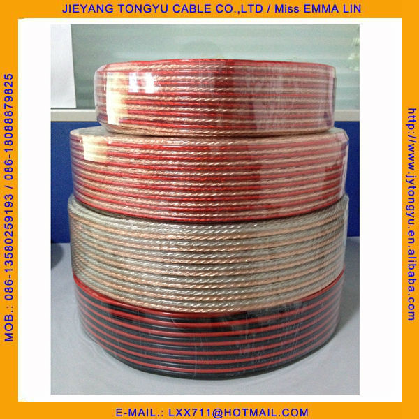 Straight Wire Pure Copper Transparent Clear Speaker Wire - Buy ...