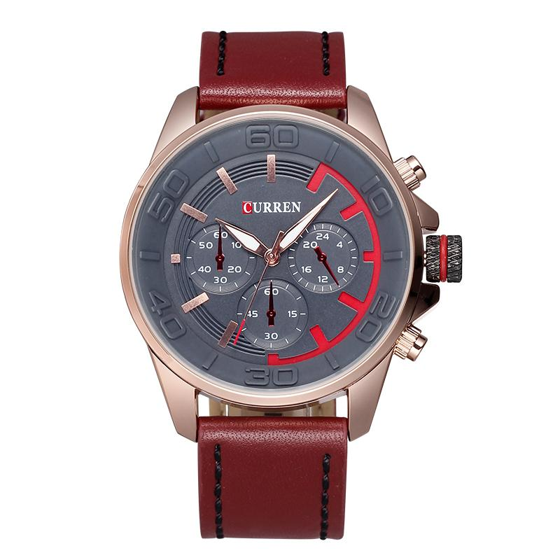 Fashion design, 2015 men, digital quartz table decoration plate, leather strap watch of wrist of leisure, wholesale and retail