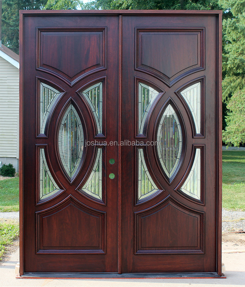 Circle Contemporary Exterior Double Door Glass Entry Doors