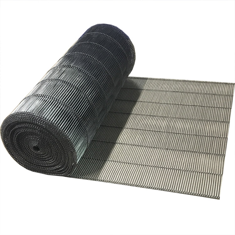 food grade stainless steel flat flex wire mesh conveyor belt