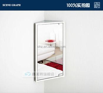 Wall Mounted Small Corner Bathroom Mirror Cabinets Bathroom Mirror Box 7023