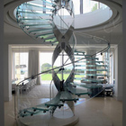 indoor and outdoor glass spiral staircase glass stairs railing prices