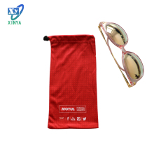 Logo new design glasses drawstring bag microfiber mobile pouch