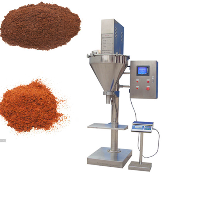 Large capacity Semi automatic maize flour tomato powders filling packaging packing machine