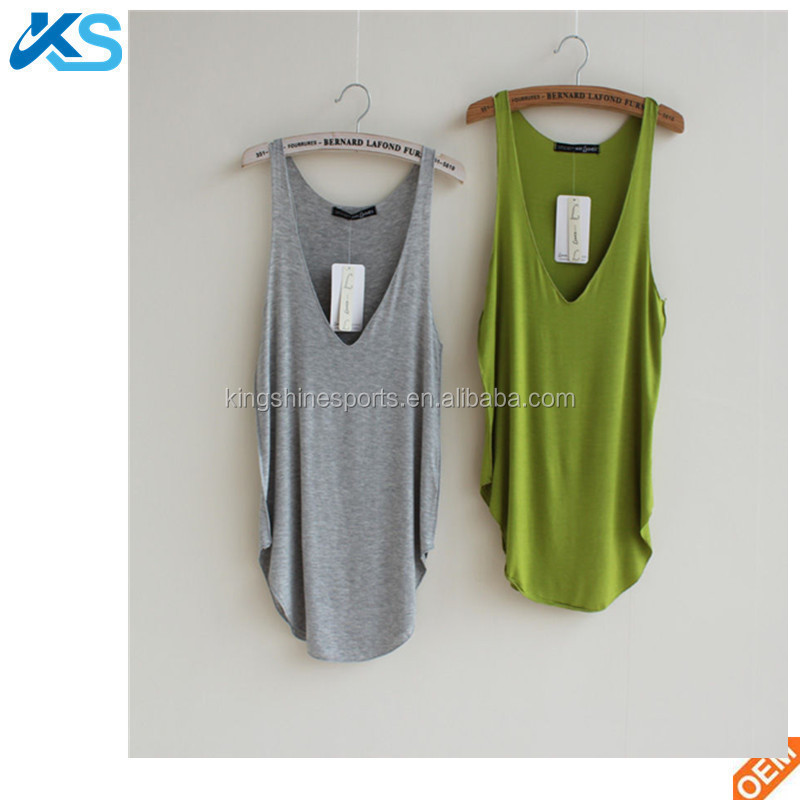 OEM Summer Casual Sleeveless V-Neck Loose Sports <strong>womens</strong> <strong>Tank</strong> <strong>Top</strong>