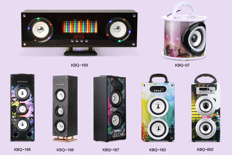 2017 hot sales usb sd wooden tower speaker bluetooth with led