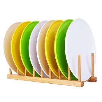 Bambú estante para platos escurridor secado Drainer almacenamiento titular  organizador para a364f743a48a