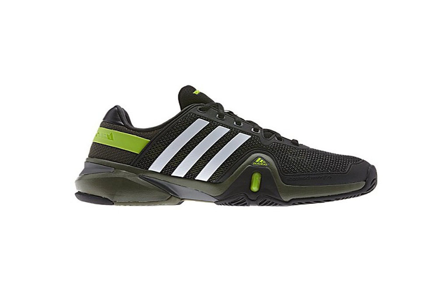 new concept a44e3 611c3 Get Quotations · Adipower Barricade 8 (blkwhtgrn) - mens size 9.5