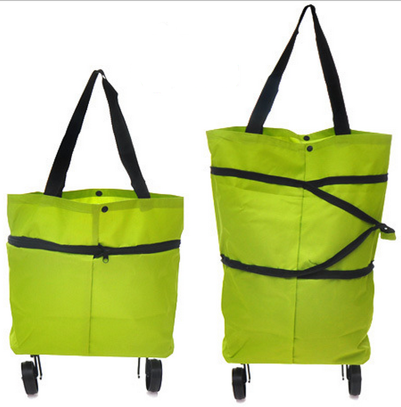 600D polyester <strong>tote</strong> style foldable shopping bag market trolley
